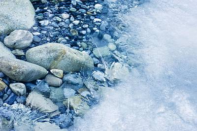 Freezing River Art Print by Jeremy Walker