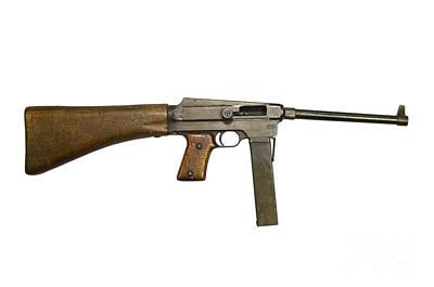 French Mas Model 38 Submachine Gun Art Print by Andrew Chittock