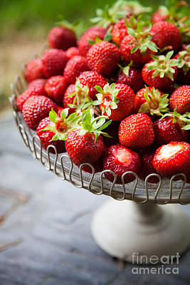 Photograph - Fresh Strawberries by Kati Finell