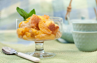 Freshly Baked Peach Cobbler Print by Lorraine Kourafas