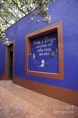 Photograph - Frida Kahlo Museum Mexico City by John  Mitchell