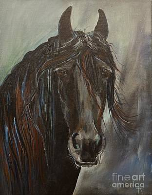 Painting - Friesian Fancy by Leslie Allen