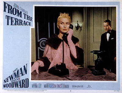 Posth Photograph - From The Terrace, Joanne Woodward, Paul by Everett