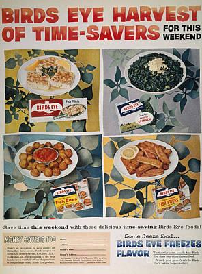 Frozen Food Ad, 1957 Art Print by Granger