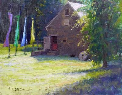 Stockton Painting - Gallery At Prallsville Mill by Kit Dalton