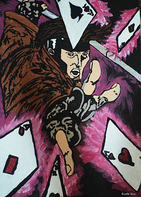 Xmen Painting - Gambit by Kendle Sixx
