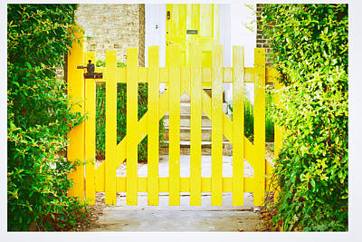 Painted Garden Gate Photograph - Garden Gate by Tom Gowanlock
