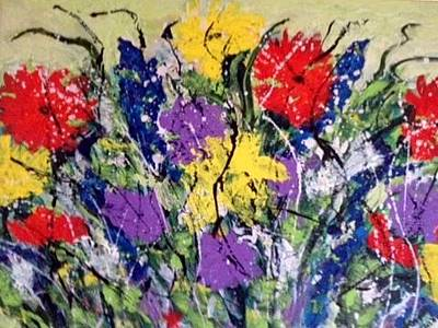 Painting - Garden Of Flowers by Annette McElhiney