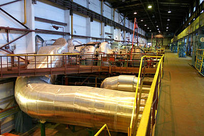 Compressor Photograph - Gas Fuel Compressor Plant by Ria Novosti