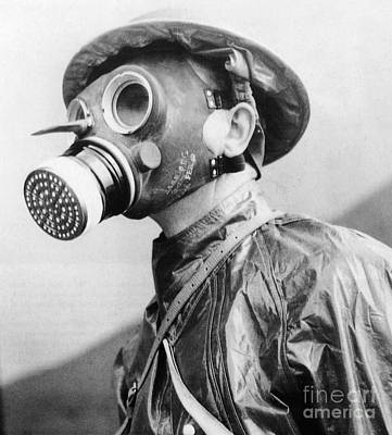 Photograph - Gas Masks by Science Source