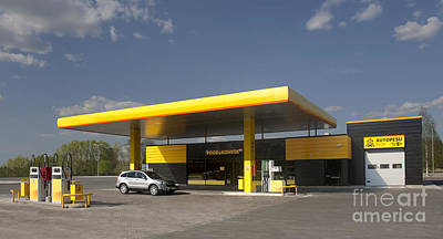 Black Commerce Photograph - Gas Station by Jaak Nilson