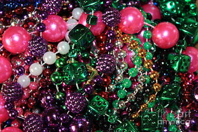 Colorful Beads Photograph - Gasparilla Beads by Carol Groenen