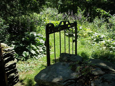Gate To The Garden Art Print by Suzanne Fenster