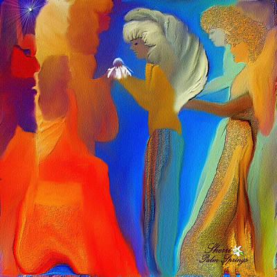 Gathering Of Angels Art Print by Sherri's Of Palm Springs