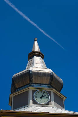 Photograph - Gazebo Clock by Ed Gleichman