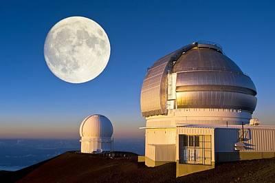 Telescope Dome Photograph - Gemini North Telescope, Hawaii by David Nunuk