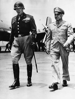 1940s Candid Photograph - General George S. Patton Jr by Everett