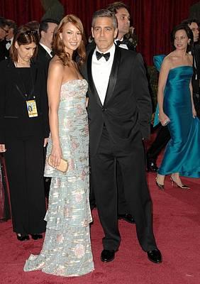 George Clooney, Sarah Larson Wearing Art Print by Everett