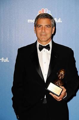George Clooney Wearing Giorgio Armani Art Print by Everett