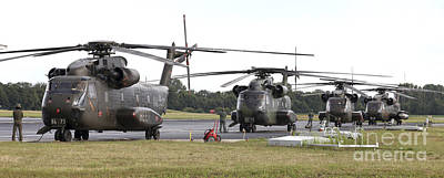 German Army Ch-53g Helicopters, Germany Art Print