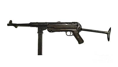German Mp-40 Submachine Gun Art Print by Andrew Chittock