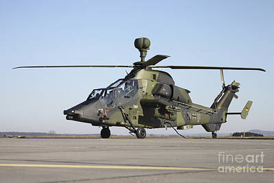 German Tiger Eurocopter At Fritzlar Art Print by Timm Ziegenthaler