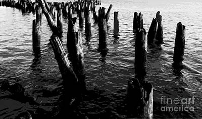 Art Print featuring the photograph Ghosts On The Hudson by David Klaboe