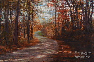Photograph - Gibson Ridge Road by Bob Senesac