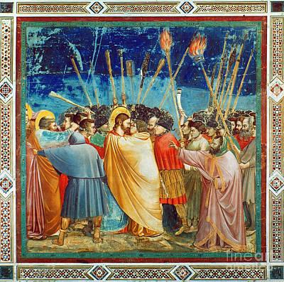 Betrayal Photograph - Giotto: Betrayal Of Christ by Granger