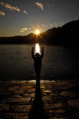 Ticino Photograph - Girl With Sunset by Joana Kruse