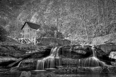 Grist Mill Photograph - Glade Creek Grist Mill At Babcock by Williams-Cairns Photography LLC