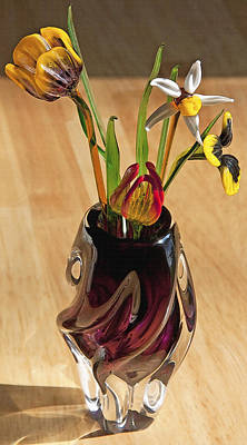 Glass Bouquet 1 Art Print by Steve Ohlsen