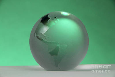 Glass Etching Photograph - Glass Globe by Photo Researchers, Inc.