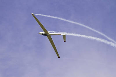 Photograph - Glider Flying Aerobatics At Airshow Canvas Photo Poster Print by Keith Webber Jr
