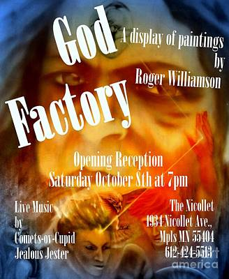 Digital Art - God Factory An Exhibition Of Paintings By Roger Williamson by Roger Williamson