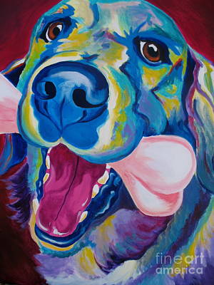Dawgart Painting - Golden - My Favorite Bone by Alicia VanNoy Call