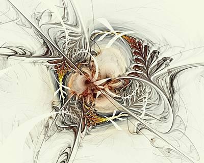 Golden Ferns Art Print