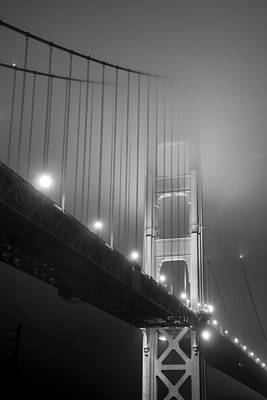 Photograph - Golden Gate Bridge At Night by Mike Irwin
