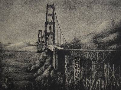 Printmaking Mixed Media - Golden Gate Bridge by Robert Plog