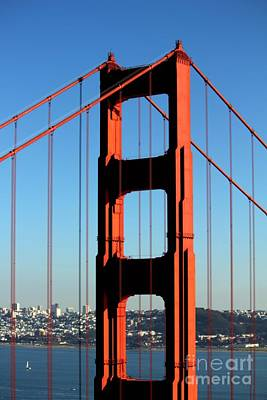 Art Print featuring the photograph Golden Gate  by Kim Pascu