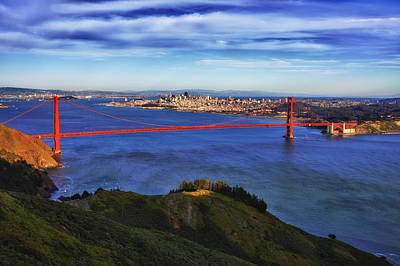 Bay Area Photograph - Golden Gate Sunset 2. by Laszlo Rekasi