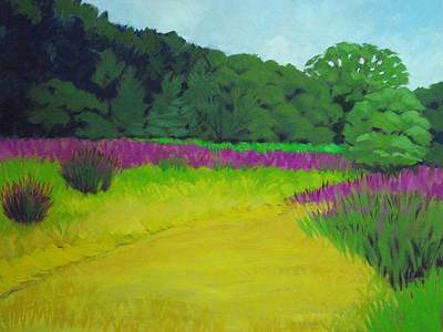 Golden  Meadow Art Print by Robert Rohrich