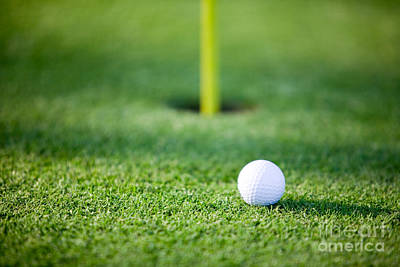 Featured Tapestry Designs - Golf ball by Kati Finell