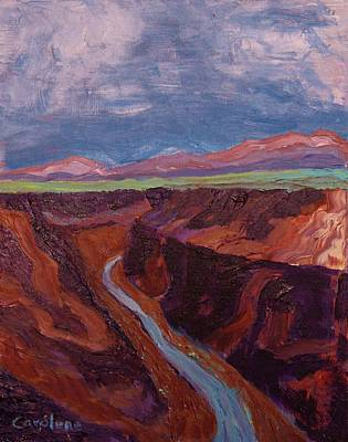 Painting - Gorge by Carolene Of Taos