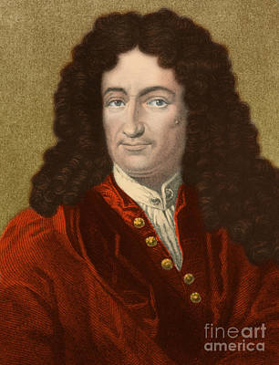 Gottfried Wilhelm Leibniz, German Print by Science Source