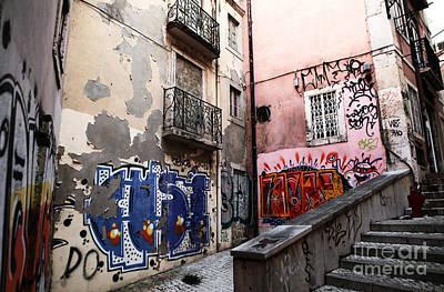 Graffiti Alley Art Print