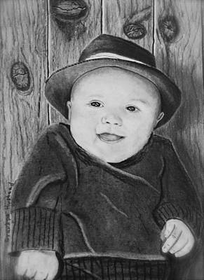 Drawing - Grandson by Brian Hustead