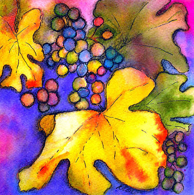 Mixed Media - Grape Vine by Dion Dior