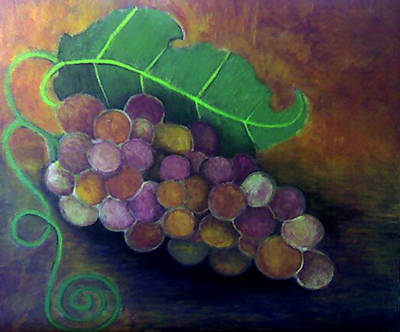 Art Print featuring the painting Grapes by Monica Furlow