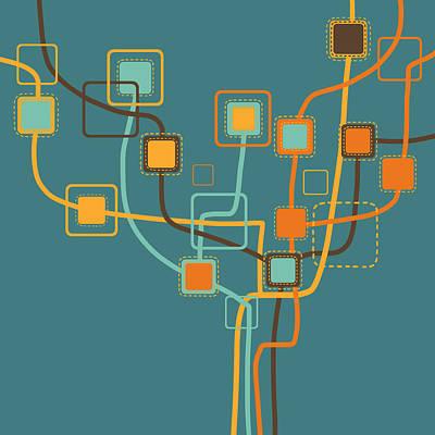 Aging Photograph - Graphic Tree Pattern by Setsiri Silapasuwanchai